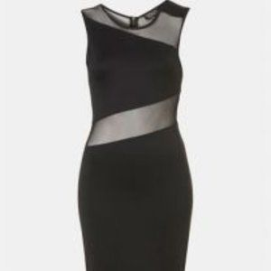 TOPSHOP - Black Dress with Mesh Cut Outs